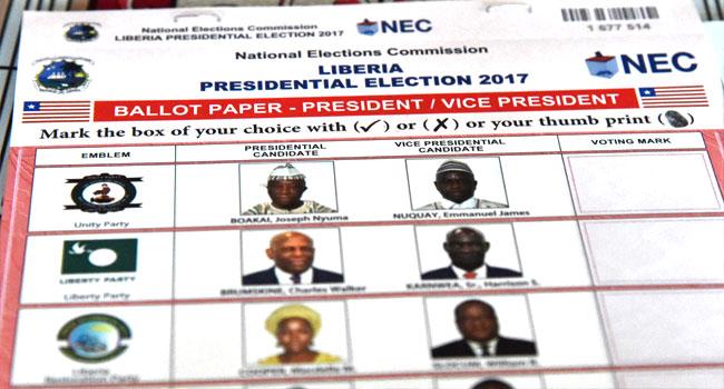 Liberia-ballot-paper