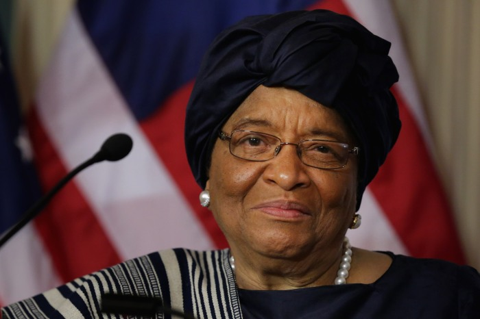 Secretary Of State Kerry Meets With Liberian President Ellen Johnson Sirleaf At The State Dept.