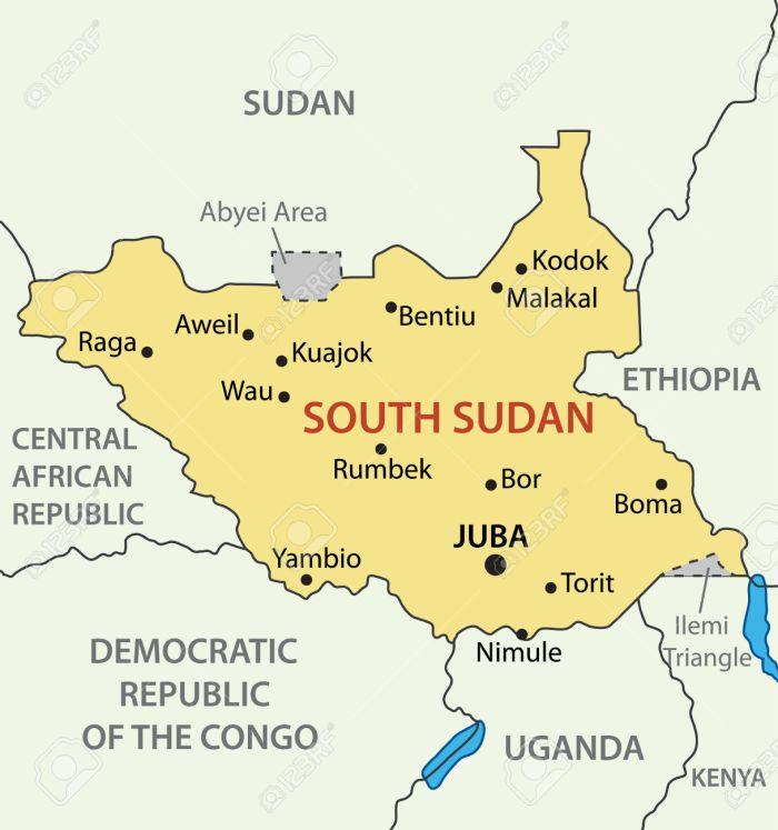 Republic of South Sudan - vector map