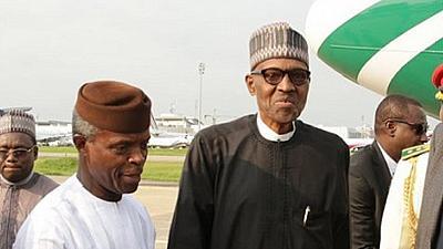 VP Yemi Osinbajo and President Muhammadu Buhari